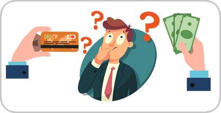 پول نقد و یا کارت اعتباری